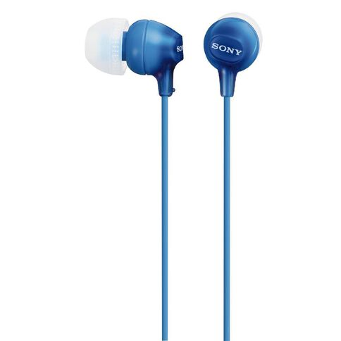 Sony In-Ear Lightweight Earbuds MDREX15LP Blue