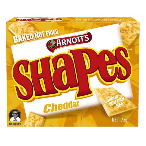 Arnott's Shapes Cheddar 175g