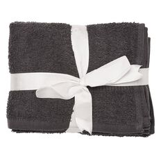 Living & Co Hand Towel Giant Charcoal 3 Pack