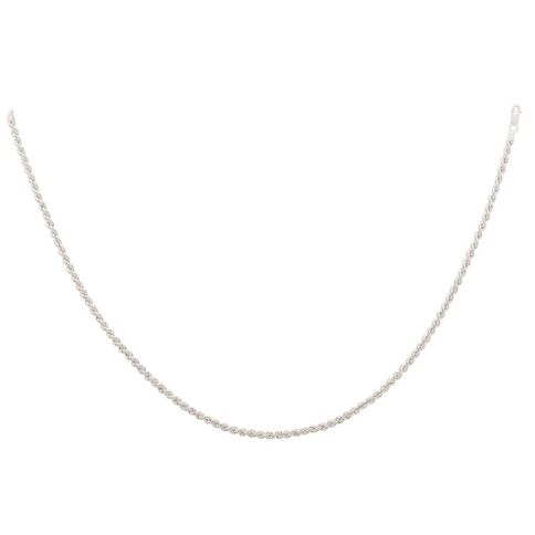 Sterling Silver Rope Chain 45cm