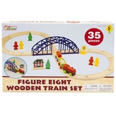First Learning Figure Eight Wooden Train Set 35 Piece