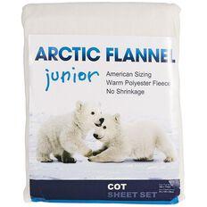 Arctic Flannel Cot Sheet Set Cream