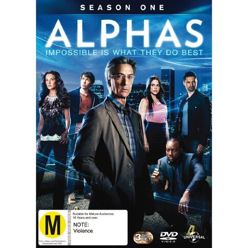 Alphas Season 1 DVD 3Disc
