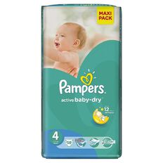 Pampers Nappies Size 4 58 Pack 7 - 14kg