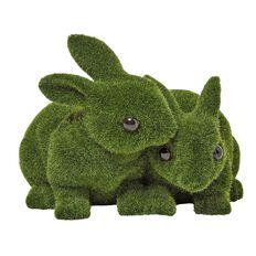 Garden Ornament Rabbit Hugging