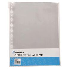 Deskwise Clearfile Refills 20 Pockets