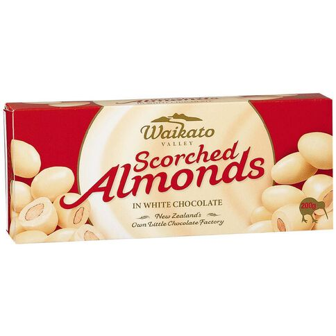 Waikato Valley Chocolates White Chocolate Almonds 200g