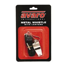 Avaro Sport Accessory Metal Whistle & Lanyard