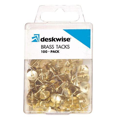 Deskwise Tacks Brass 100 Pack