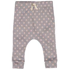 Hippo + Friends Baby Girl Spot Merino Pants