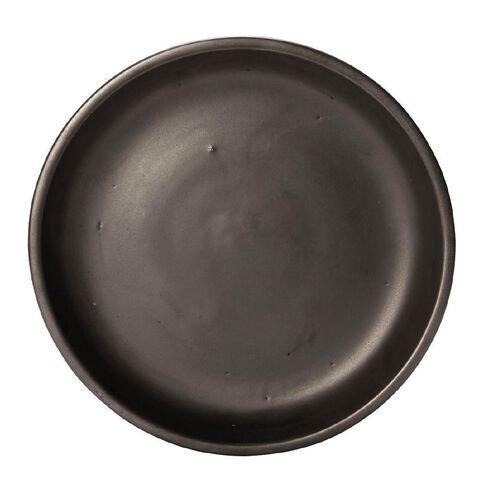Matt Black Round Saucer 30cm