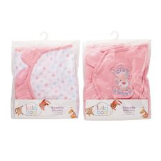 Lullaboo Swaddle Blanket Assorted Pink S-M