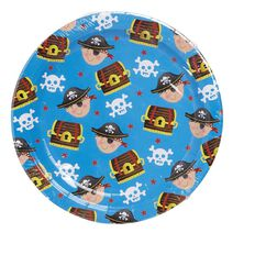 Party Inc Pirate Paper Plates 22cm 16 Pack