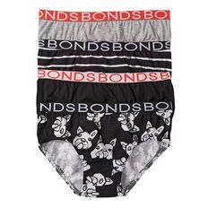Bonds Boys' Stripe Briefs 4 Pack
