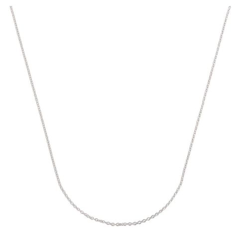 Sterling Silver 40 Gauge Cable Chain 45cm