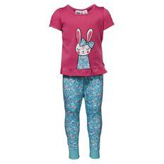 H&H Infants Girls' Short Sleeve Long Leg Knit Pyjamas