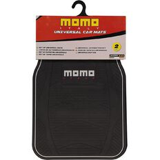Momo Car Mat Rubber 2 Piece Black/Grey