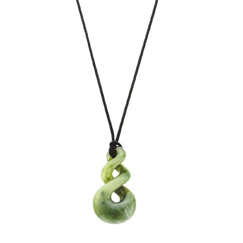 Jade Double Twist Pendant