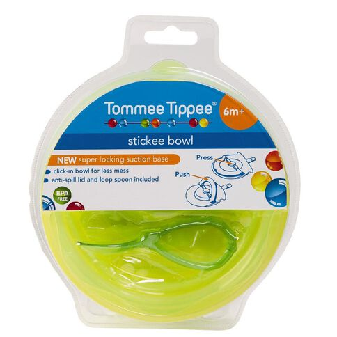 Tommee Tippee Stickee Bowl 6+ Months Assorted Colours