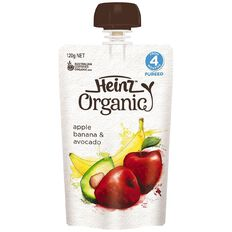 Heinz Organic Apple Banana Avocado Pouch 120g