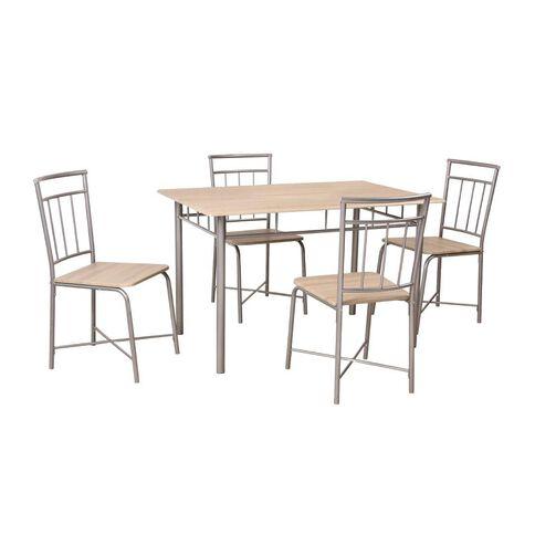 Necessities Brand Dining Set Silver 5 Piece