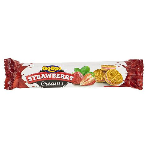 Oki Doki Strawberry Creams 200g