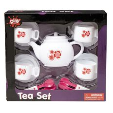 Play Studio Plastic Tea Set 13 Piece including Tea Pot