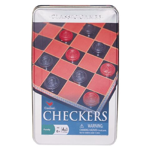 Checkers Game in Tin
