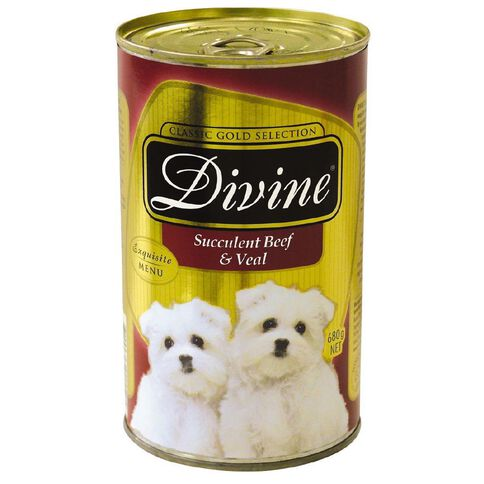 Divine Dog Beef and Veal Can 680g