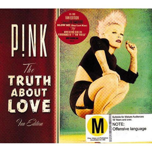 The Truth About Love Fan Edition CD/DVD by Pink 2Disc