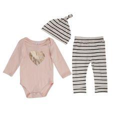 Hippo + Friends Baby Girl Bodysuit & Leggings 3 Piece Set
