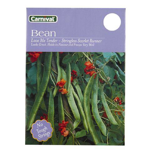 Carnival Less Scar Run Bean Vegetable Seeds