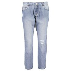 Amco Women's Distressed Girlfriend Jeans