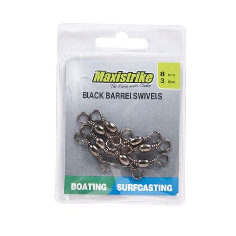 Maxistrike Fishing Swivel Barrel N3 8 Pack