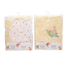 Lullaboo Swaddle Blanket Assorted Yellow Large
