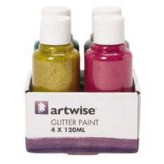 Artwise Paint Glitter 120ml 4 Pack