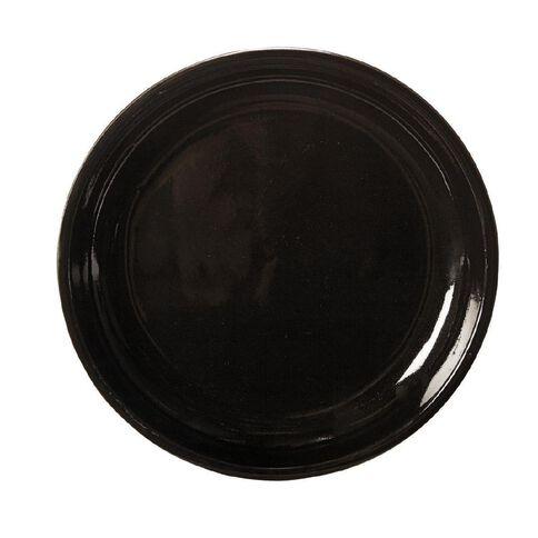 Gloss Black Round Saucer 27cm