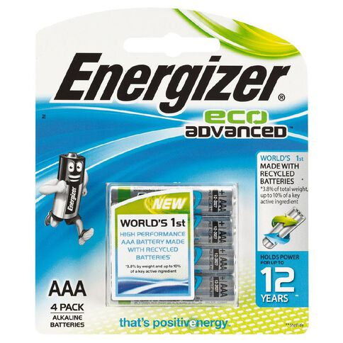 Energizer Eco Advanced AAA 4 Pack