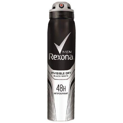 Rexona Men's Antiperspirant Invisible Black + White 250ml
