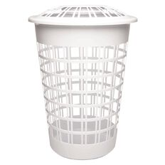 Sort It Laundry Hamper with Lid 64L White