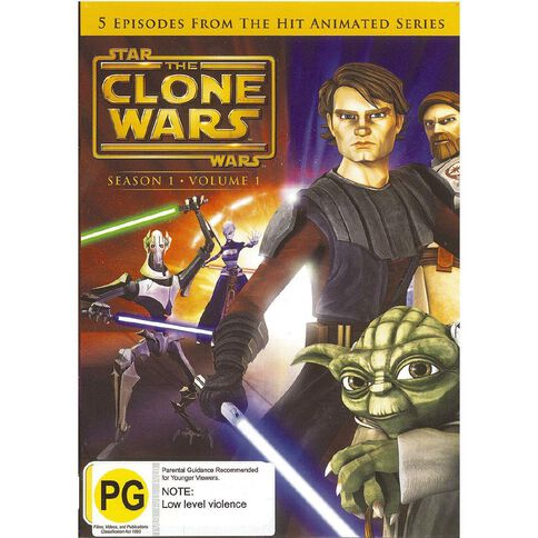Star Wars The Clone Wars Volume 1 DVD 1Disc