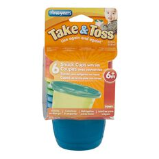 Take & Toss Snack Cups 6 Pack