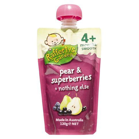 Rafferty's Garden Pear & Super Berries Pouch 120g