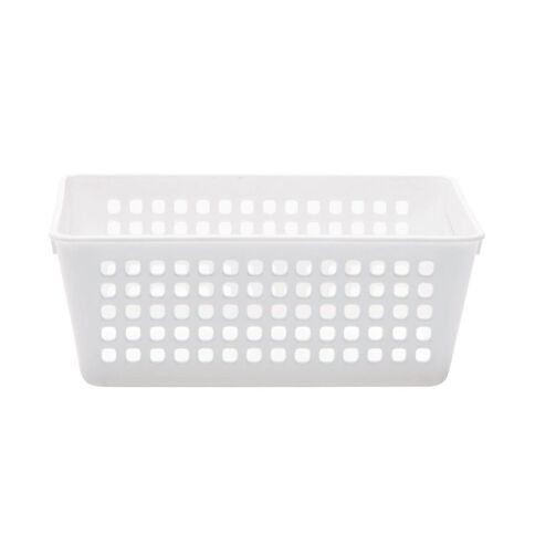 Taurus Plastic Basket Tray White Small
