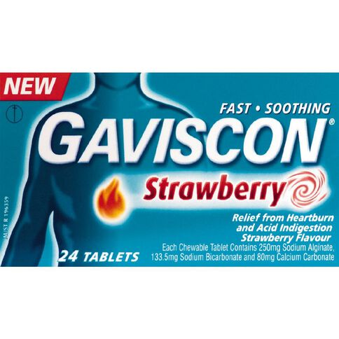 Gaviscon Tablets Strawberry 24s