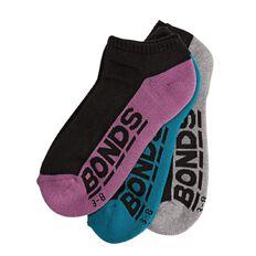 Bonds Women's Logo Low Cut Socks 3 Pack