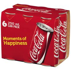Coca Cola Cans 6 Pack 250ml