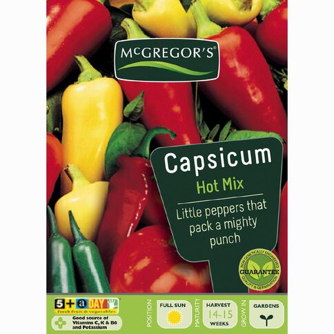 McGregor's Hot Mix Capsicum Vegetable Seeds