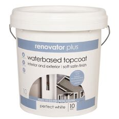 Renovator Plus Soft Satin Paint Perfect White 10L