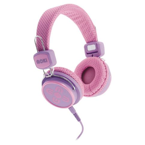 Moki Kids' Safe Headphones Pink/Purple